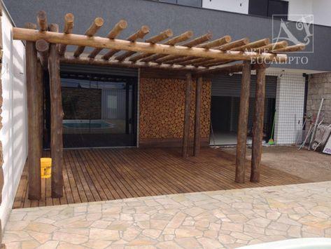 Pérgola Eucalipto Citriodora + Deck , Capão Raso