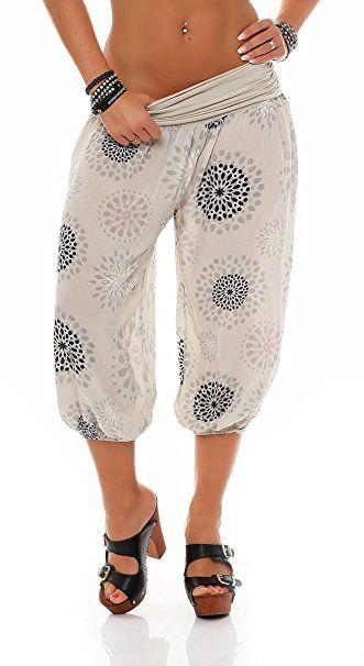 288ff740df malito Damen Capri Hose mit Print | Haremshose zum Tanzen | Pumphose zum  Chillen - Freizeithose