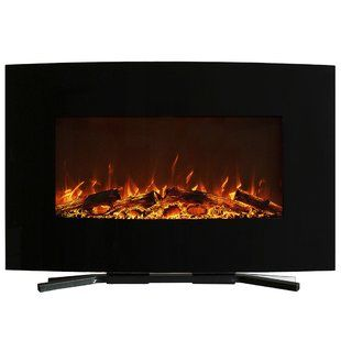 Wade Logan Clairevale Wall Mounted Electric Fireplace Wayfair Electric Fireplace Wall Mount Electric Fireplace Electric Fireplace Wall