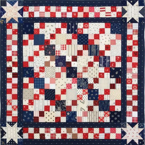 4-patch doll quilt
