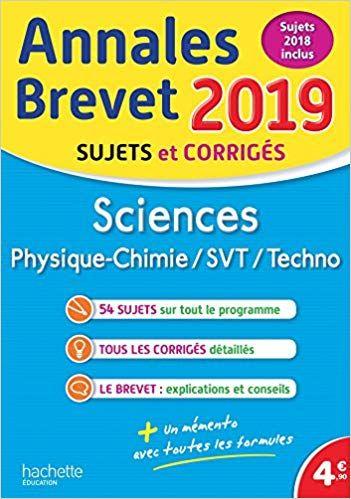 Annales Nouveau Brevet 2019 Physique Chimie Svt Telecharger