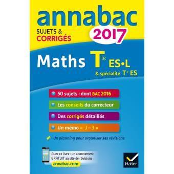 Annales Annabac 2017 Maths Tle Es L Math Personal Care Person