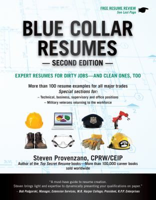 Cover image for Blue collar resumes  expert resumes for dirty - blue collar resume
