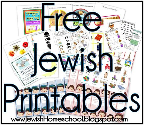 Jewish Printables and Activity Packs- Use Hannukah pack with Menorah play doh mat, paper dreidel cut out and play, dreidel type matching Menorah, Cultura Judaica, Jewish Crafts, Jewish Art, Jewish Food, Hebrew School, Learn Hebrew, Hannukah, Hanukkah Food