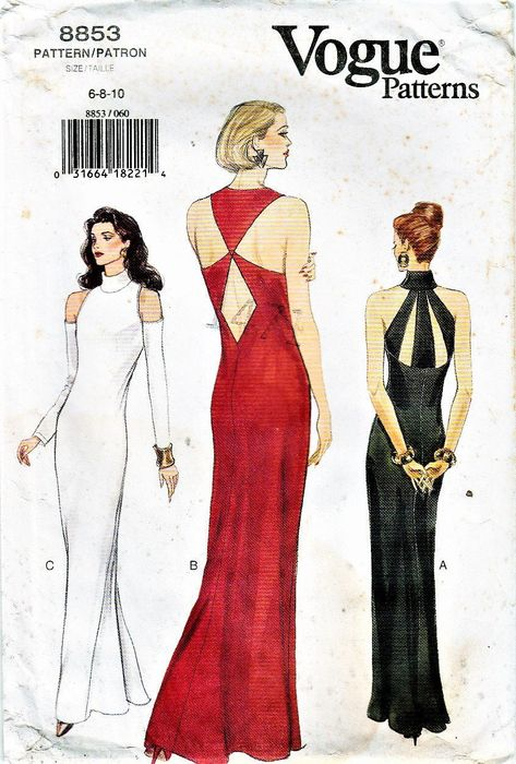 Fashion Patterns, Vogue Sewing Patterns, Clothes Patterns, Vintage Sewing Patterns, Evening Dresses, Vintage Evening Gowns, Formal Dress Patterns, Wedding Dress Patterns, Mod Fashion