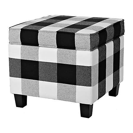 Amazing Product Details Black And White Buffalo Check Storage Dailytribune Chair Design For Home Dailytribuneorg