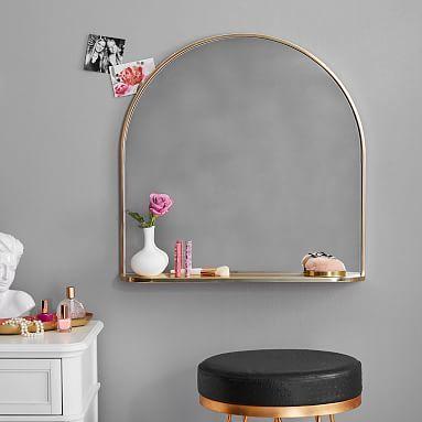 Half Round Mirror With Ledge Decor Round Mirrors Simple Room