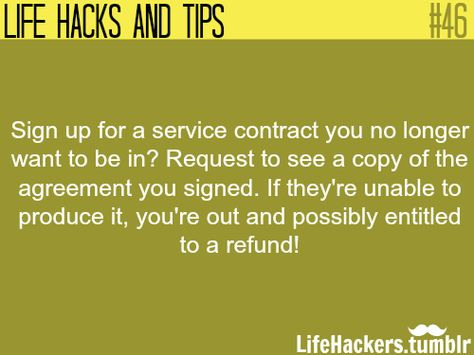 How To Get Out Of Service Contract More Life Hacks At Life