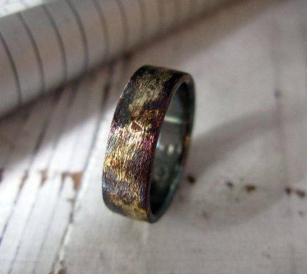 14k 18k 22k Yellow Gold Sterling Silver Mixed Metal Ring Etsy Mens Wedding Rings Unique Mens Wedding Bands Unique Wedding Rings Unique