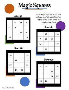 Pin By Kaffenate Math On Kaffenate Math Games Magic Squares Math Magic Math