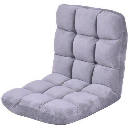 Costway Cushioned Floor Gaming Sofa Chair Folding 5 Positon