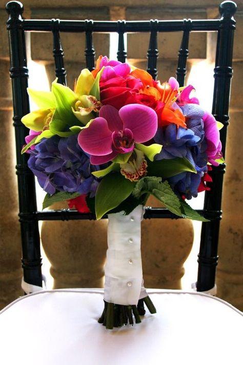 60 Bright Tropical Wedding Bouquets Tropical Wedding Bouquets