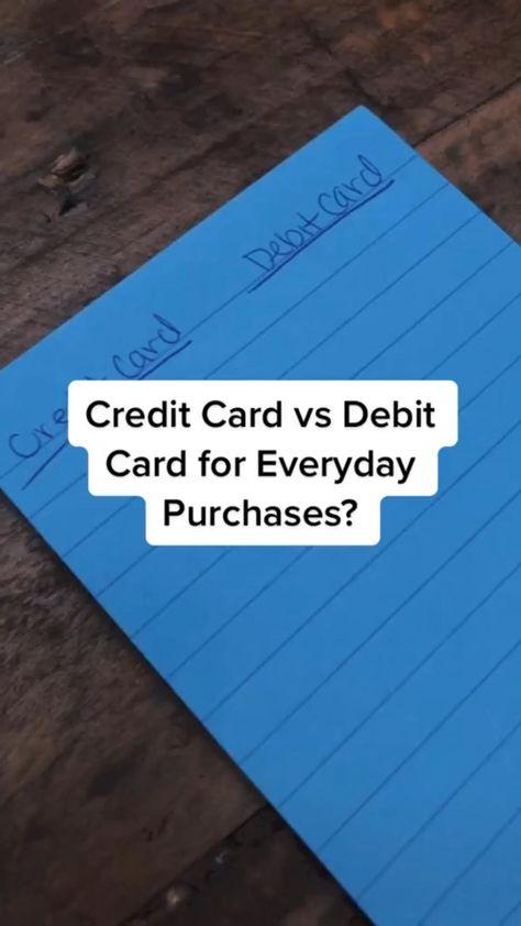 Credit Card vs Debit Card