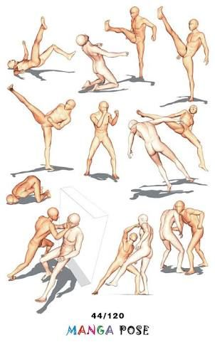 Image Result For Anime Couple Fighting Pose Base Poses De Combate Poses De Figura Dibujos Poses