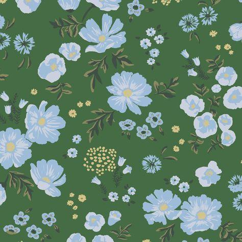 Cascade Meadow Wallpaper - Cascade Meadow - Juniper / Swatch
