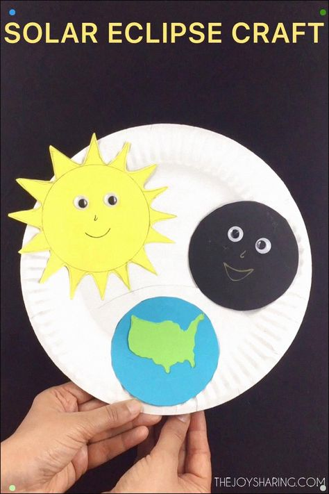 Fun And Easy Craft To Explain Solar Eclipse To Young Kids. Impeccable Science Project For Preschool And Kindergarten. #Craftsforkids #Kidscrafts #Stem #Stemeducation #Stemactivities #Scienceforkids #Solareclipse #Solarsystem #Preschoolcrafts #Kindergarten #Teachersfollowteachers #Papercrafts #Paperplatecrafts #Craftideas #Craftprojects