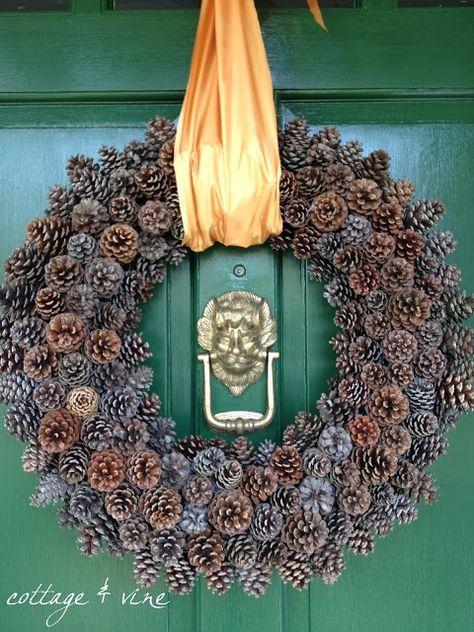 cottage and vine: My DIY Pine Cone Wreath