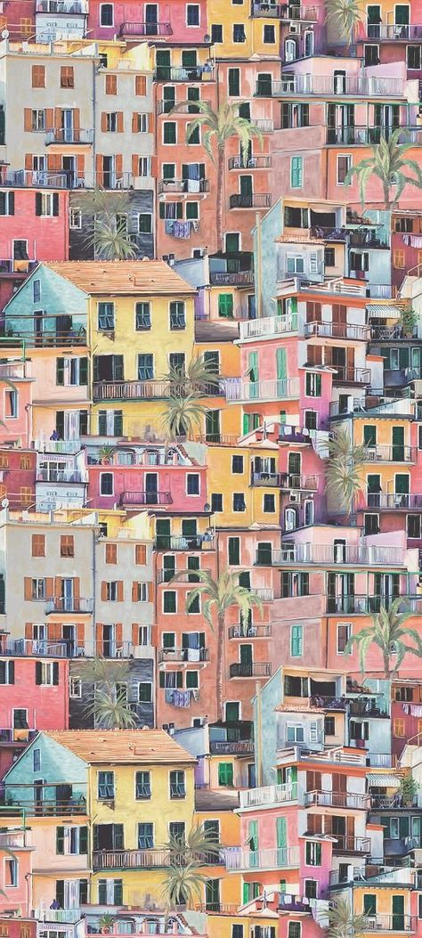 Portovenere Wallpaper in Multi-Color from the Manarola Collection by Osborne & Little