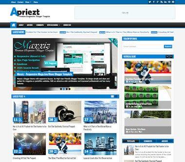 Apriezt Responsive Premium Blogger Template Free Download Free Blogger Templates Blogger Templates Templates Free Download