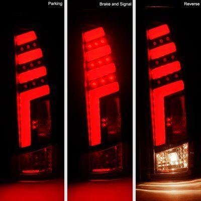 Chevy Silverado 1988 1998 Black Red Tube Led Tail Lights Led Tail Lights Chevy Silverado Tail Light