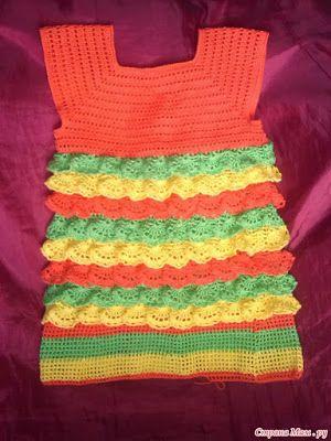 Crochet, Crochet Patterns, crochet baby dress, crochet baby