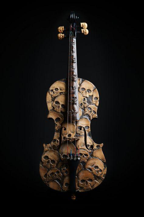 Schädel-Violine geschnitzten Schädel Violine von ArtistInFla  skulls