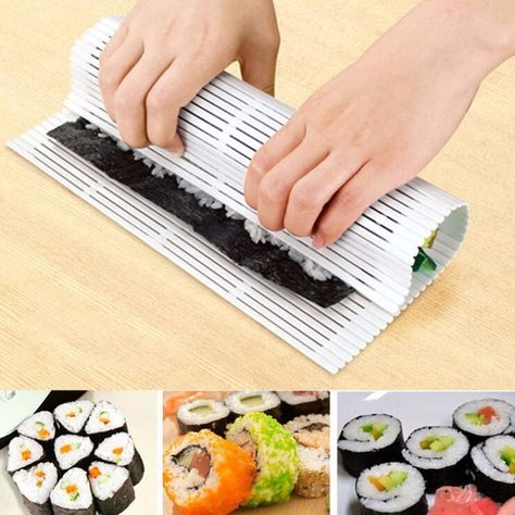 Kitchen Tool Sushi Maker Kit Rice Roll Mold DIY Mould Roller Mat Rice Paddle CO