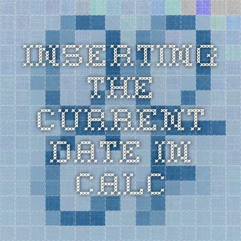Inserting the current date in Calc