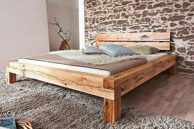 Massivholz Bett 180x200 Wildeiche Geolt Balkenbett Doppelbett Bettgestell Holz Ebay Bett Selber Bauen Bett Holz Holzbalken Bett