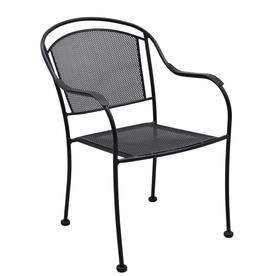 Garden Treasures Davenport Steel Dining Chair With Mesh Seat Lg