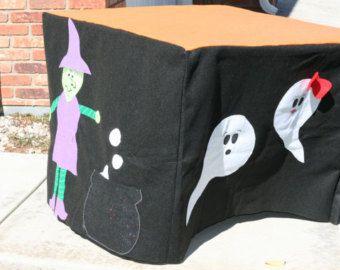 Halloween Not so Spooky Haunted House Felt Card Table Fort
