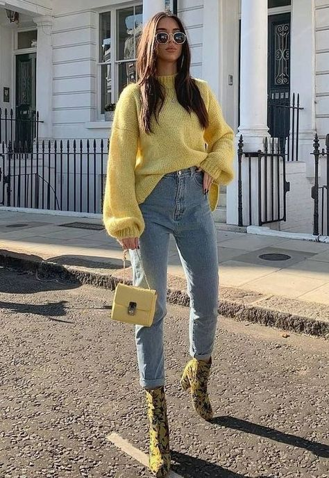 30 Beautiful Spring Outfit Ideas With Sweaters for Women - Herren- und Damenmode - Kleidung