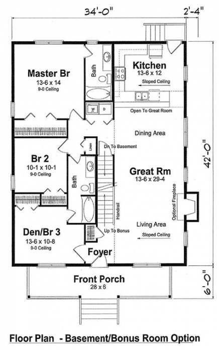 31 Best Ideas House Plans Bungalow Bonus Rooms Vacation House Plans Family House Plans House Floor Plans
