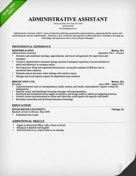 Professionally written administrative assistant resume sample and - financial system manager sample resume