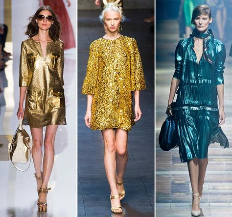 Spring/ Summer 2014 Fashion Trends: Metallic Shades  #2014fashiontrends