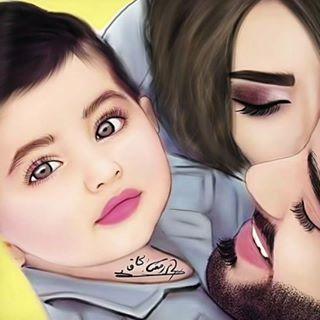 مصطفى الجاف رسام رقمي Mostafa Jaf Fotos Y Videos De Instagram Mother Art Mom Art Mother Daughter Art