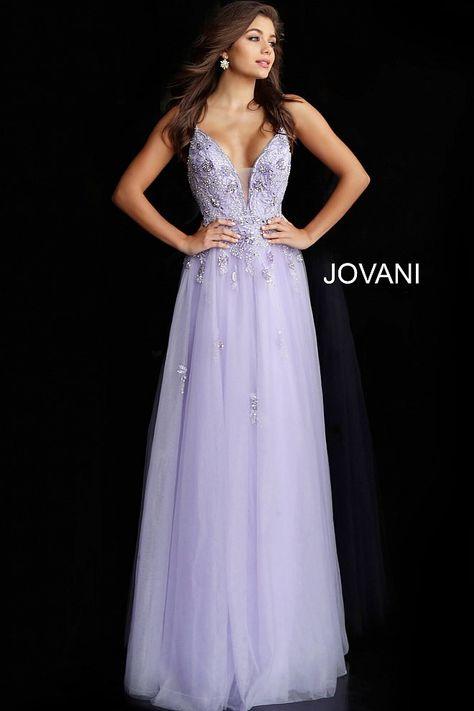 abbbe93033f04 jovani Burgundy Plunging Neck Embellished Prom Ballgown 66121
