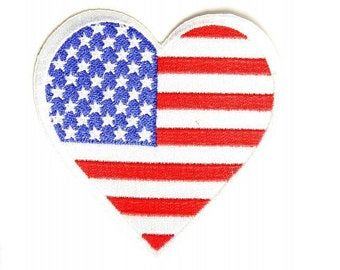 Military Patch Etsy Heart Patches Embroidered Patches Flag Patches