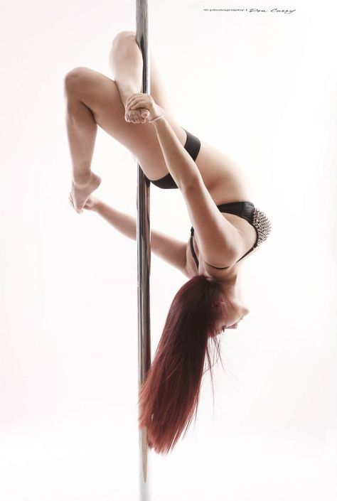Rainbow (Open Variation). Intermediate Pose. Some think this is the same as the Cross Knee Release, but this has a different theory, looks great on spinning pole and even better when your back is more flexible <3 One of my favorites.