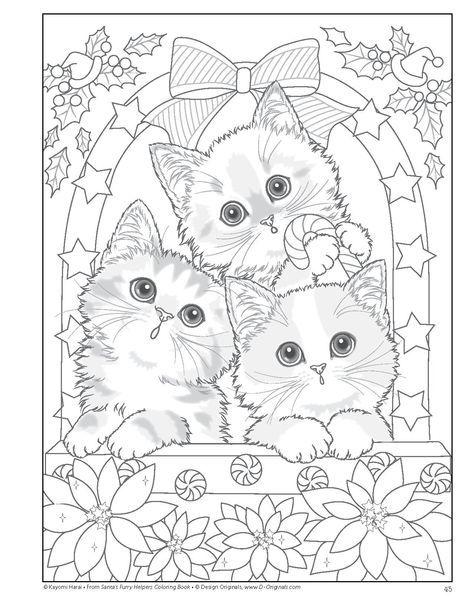 Santas Furry Helpers Coloring Book Colouring Books Amazon De Kayomi Harai Fremdsprachige Bucher Weihnachtsmalvorlagen Ausmalbilder Malbuch Vorlagen