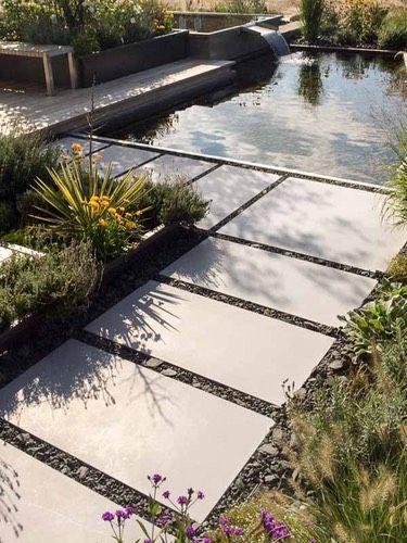 Vintage Godelmann Platten f r einen modernen Garten Haus Pinterest Moderne g rten G rten und Gartenweg