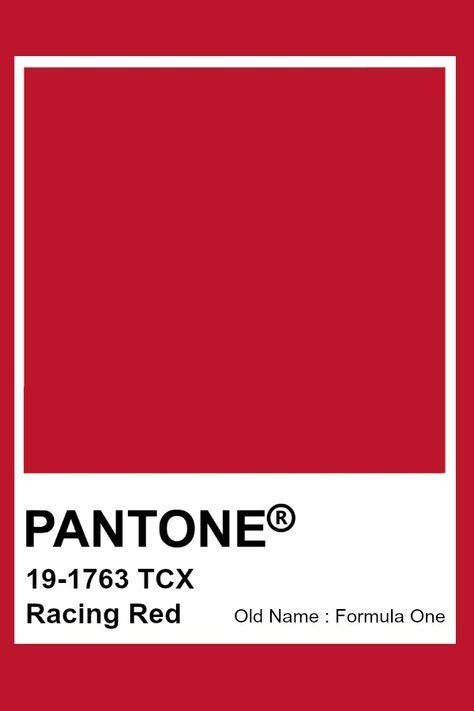 Pantone Racing Red