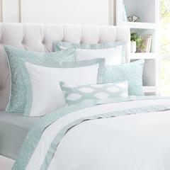 Patterned Bed Skirt Morning Glory Grey Crane Canopy Luxury