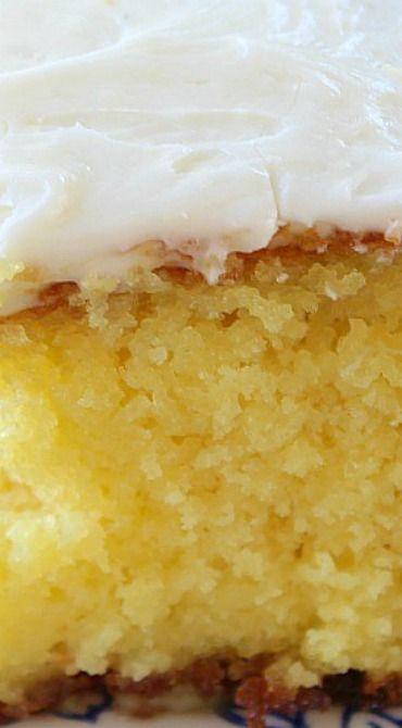 Delicious Lemon Poke Cake ~ Super easy and so delicious
