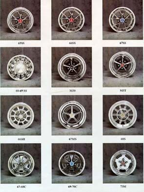 Concours Wheels Styled Steel Wheels For Your Collector Car Ford Mustang Classic Revell Model Kits Wheels And Tires