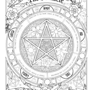 Coloring Book Of Shadows Book Of Spells Magical Recipes Online Book Of Shadows Witch Coloring Pages Coloring Books