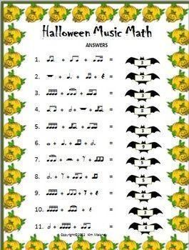 Halloween Music Activities Ten Rhythm Worksheets For Middle School Music Halloween Music Lessons Each Wo Music Math Halloween Music Halloween Music Activities