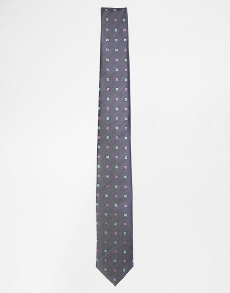 """Krawatte von Jack & Jones bedruckte Seide spitze Enden eine Schlaufe hinten Abwischen 100% Seide Länge: 150cm/59"""" Breite: 6cm/2"""""""