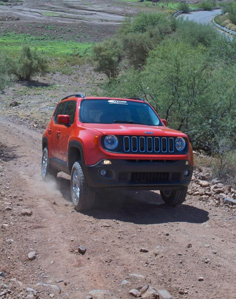 Lifted 2015 Jeep Renegade. Lift Kit by Daystar Products International