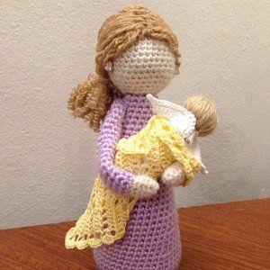 Crochet Pattern. English Dutch and German. Nursing Mother. | Etsy
